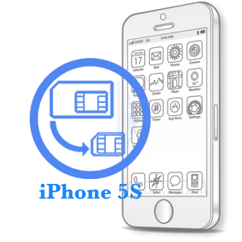 Ремонт iPhone 5S Обрезка сим-карты под Nano-Sim