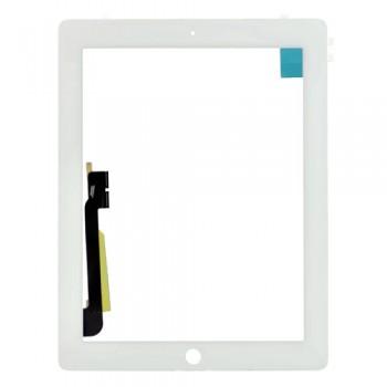 Сенсорное стекло (тачскрин) для iPad 4 (белое)