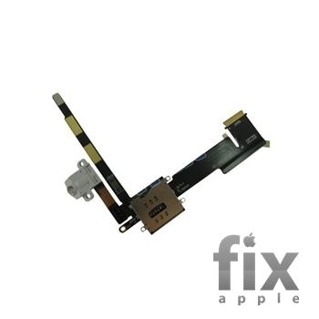 Шлейф аудіо-роз'єму і конектора sim для iPad 2 wi-fi + 3g