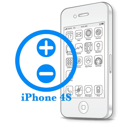 Ремонт iPhone 4S Ремонт кнопок гучності
