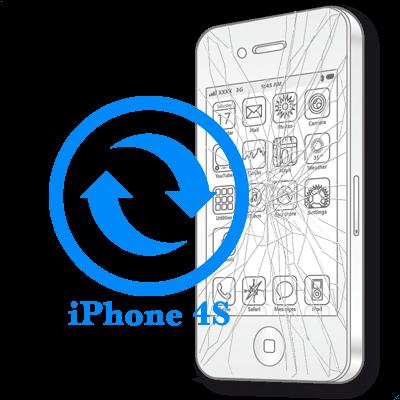 Ремонт Замена сенсорного стекла (тачскрина) iPhone iPhone 4S Замена стекла (тачскрина) на
