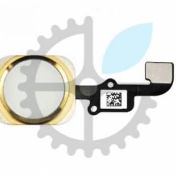 Кнопка Home в сборе со шлейфом для iPhone 6+ Plus (Gold)
