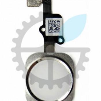 Кнопка Home в сборе со шлейфом для iPhone 6+ Plus (Silver)