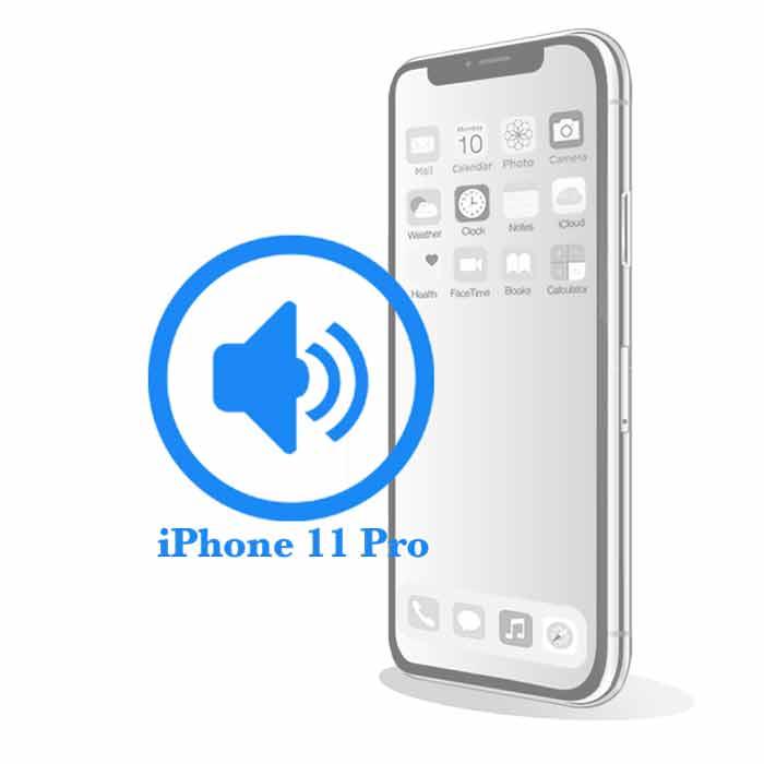 Ремонт iPhone 11 Pro Max Замена полифонического (нижнего) динамика на