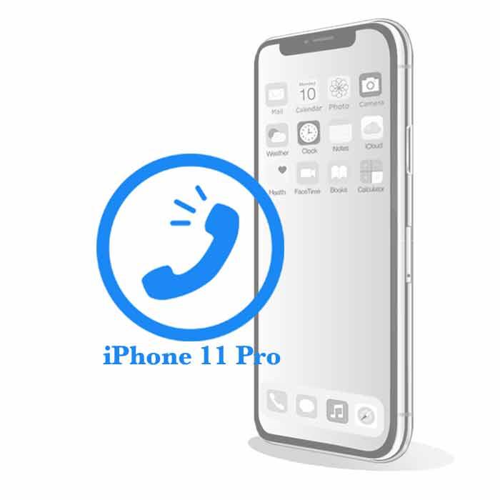 Ремонт iPhone 11 Pro Max Замена голосового (верхнего) динамика на