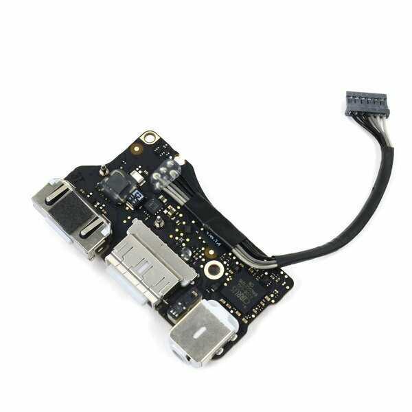 """Плата с разъемом (гнездом) зарядки MagSafe 2, USB, аудио, I/O board для MacBook Air 13"""" 2013-2017 A1466"""